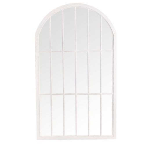 . Large Arched Window Mirror White